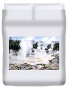 Fountain Paint Pot Yellowstone Np Duvet Cover