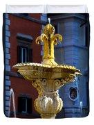 Fountain Piazza Farnese Duvet Cover