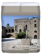 Fountain  - Rhodos City Duvet Cover