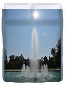 Fountain - Los Angeles County Arboretum And Botanic Garden Duvet Cover