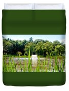 Fountain Side Duvet Cover by Greg Fortier