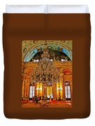 Four And One-half Ton Crystal Chandelier In Ceremonial Hall In Dolmabache Palace In Istanbul-turkey  Duvet Cover