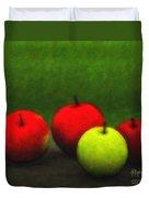 Four Apples Duvet Cover