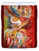 Four Elements Fire Duvet Cover by Elena Kotliarker