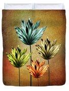 Four Fractal Flower Duvet Cover