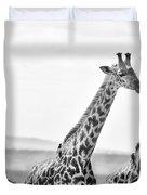 Four Giraffes Duvet Cover