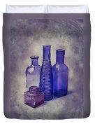 Four Glass Bottles Duvet Cover