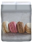 Four Macarons In A Row Duvet Cover