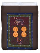 Four Of Pentacles Duvet Cover