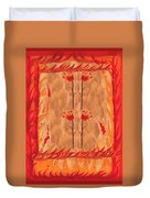 Four Of Wands Duvet Cover