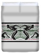 Four Olympic Swimmers 1964 Photomontage Duvet Cover
