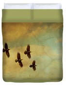Four Ravens Flying Duvet Cover