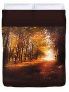 Four Seasons Autumn Impressions At Dawn Duvet Cover