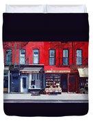 Four Shops On 11th Ave Duvet Cover