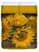 Four Sunflowers Duvet Cover