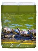 Four Turtles Duvet Cover