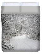 Four Wheel Winter Duvet Cover