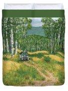 Fourwheeling In Alaska Duvet Cover