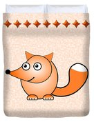Fox - Animals - Art For Kids Duvet Cover