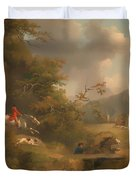 Fox Hunting In Hilly Country Duvet Cover