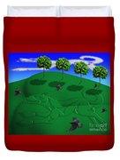 Fox Mound Duvet Cover by Keith Dillon