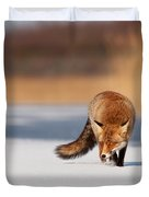 Fox On Ice Duvet Cover