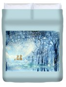 Foxes In The Snow Duvet Cover