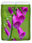Foxglove Digitalis Purpurea Duvet Cover