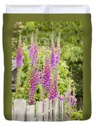 Foxglove Fence Duvet Cover by Anne Gilbert