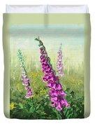 Foxglove Flower Duvet Cover