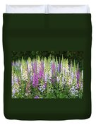 Foxglove Garden In Golden Gate Park Duvet Cover