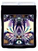 Fractal 26 Jeweled Tone Lotus Flower Duvet Cover