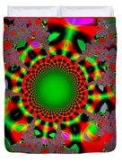 Fractal #6b Duvet Cover by Tomasz Dziubinski
