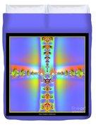 Fractal 7 Cross Duvet Cover