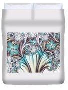 Fractal Abstract Fantasy Flower Garden 2 Duvet Cover