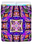 Fractal Ascension Duvet Cover by Derek Gedney