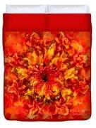 Fractal Chrysanthemum Duvet Cover