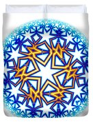 Fractal Escheresque Winter Mandala 2 Duvet Cover