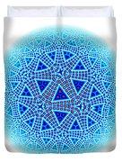 Fractal Escher Winter Mandala 5 Duvet Cover
