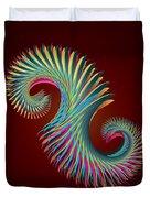Fractal Feather Spiral Duvet Cover
