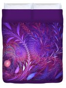 Fractal Flower Fields Duvet Cover