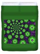 Fractal Green Shapes Duvet Cover