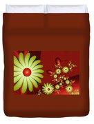 Fractal Happy Flowers 2 Duvet Cover