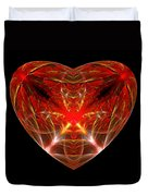 Fractal - Heart - Open Heart Duvet Cover by Mike Savad