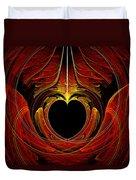 Fractal - Heart - Victorian Love Duvet Cover