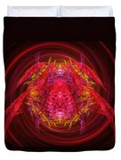 Fractal - Insect - Jeweled Scarab Duvet Cover