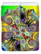 Fractal Lotus Zodiac Duvet Cover