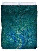 Fractal Marine Blue Duvet Cover