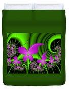 Fractal Neon Fantasy Duvet Cover
