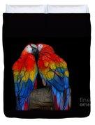 Fractal Parrots Duvet Cover